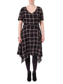 Studio 8 Plus Size Kelly check dress