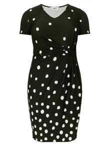Studio 8 Plus Size Ruth spot dress