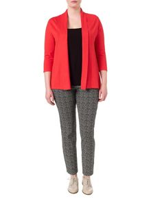 Molly plain shawl collar cardigan