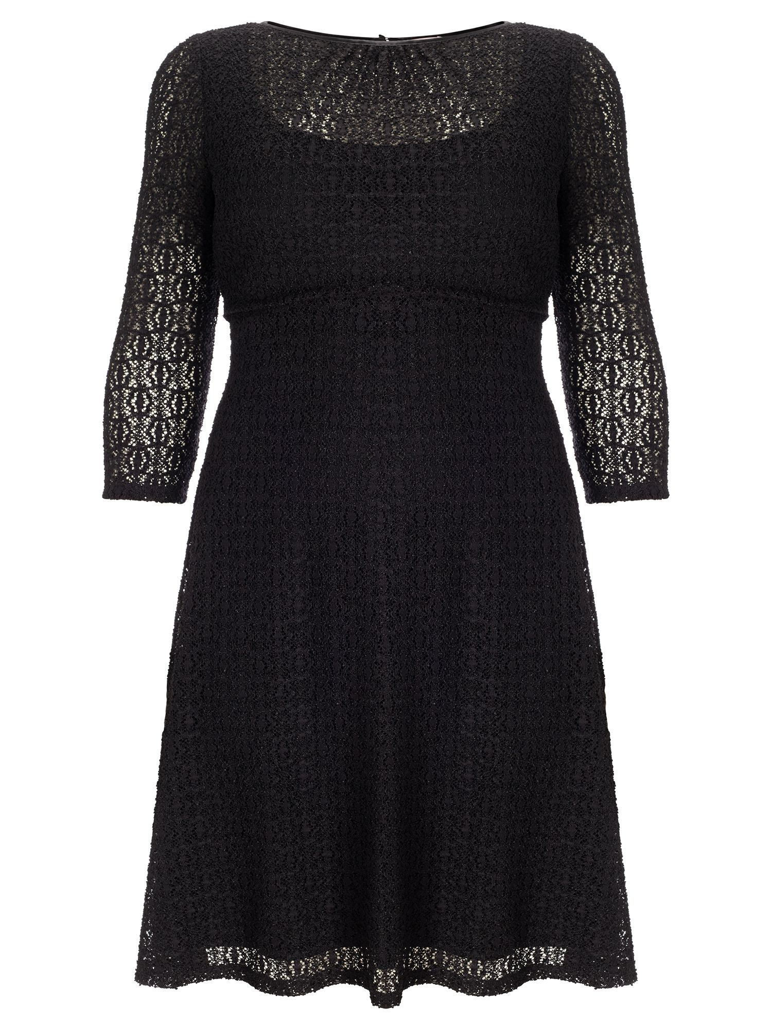 Studio 8 Plus Size Maya lace dress, Black