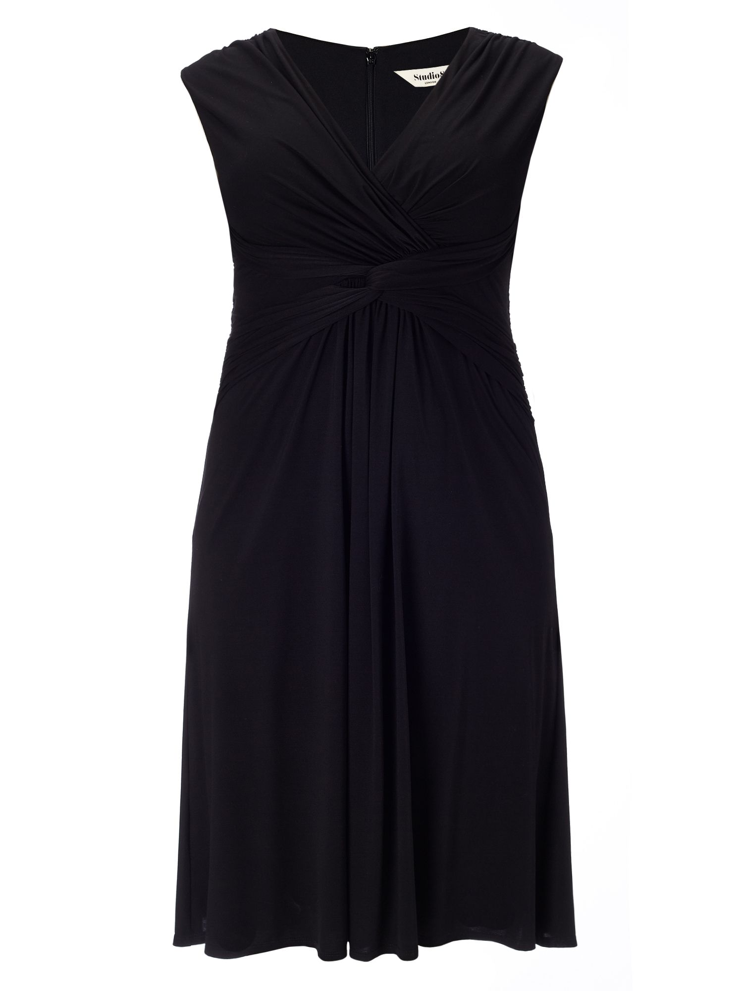 Studio 8 Plus Size Marnie knot dress, Black