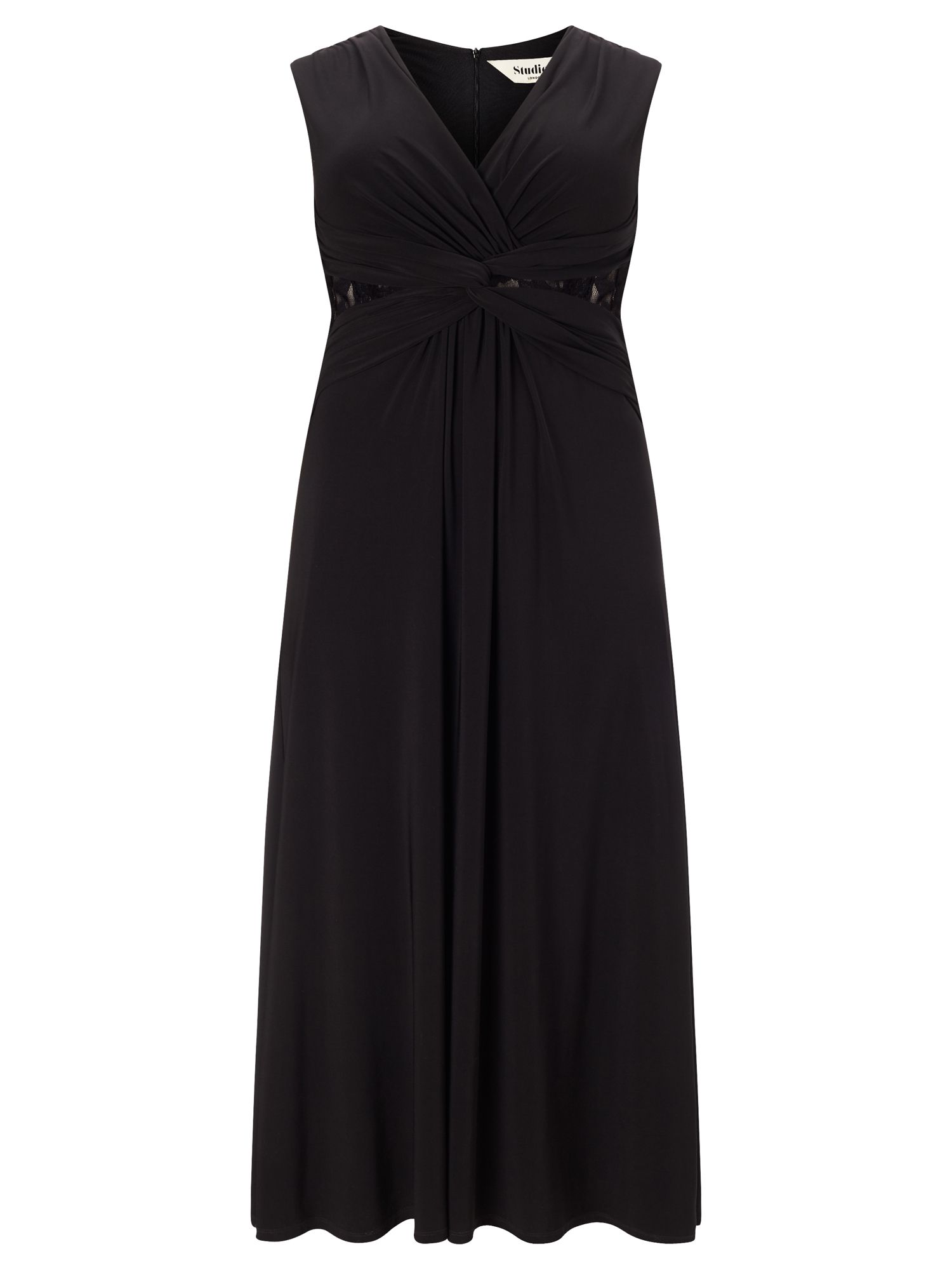 Studio 8 Plus Size Sophie twist lace maxi dress, Black