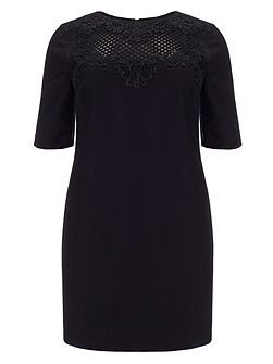 Plus Size Eliza lace panel dress