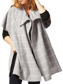 Plus Size Lynn check cape coat