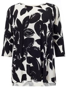 Plus Size Amy mono print jumper