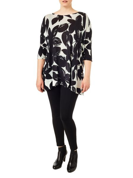 Studio 8 Plus Size Amy mono print jumper