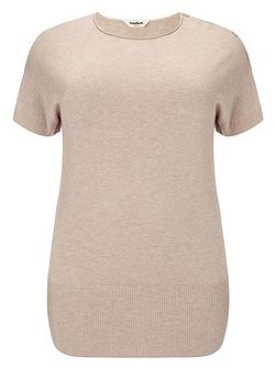 Plus Size Carrie short sleeve knit jumper