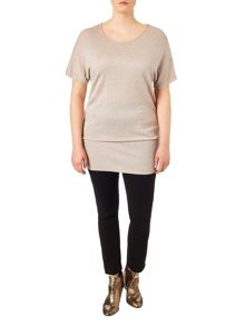 Studio 8 Plus Size Carrie short sleeve knit jumper