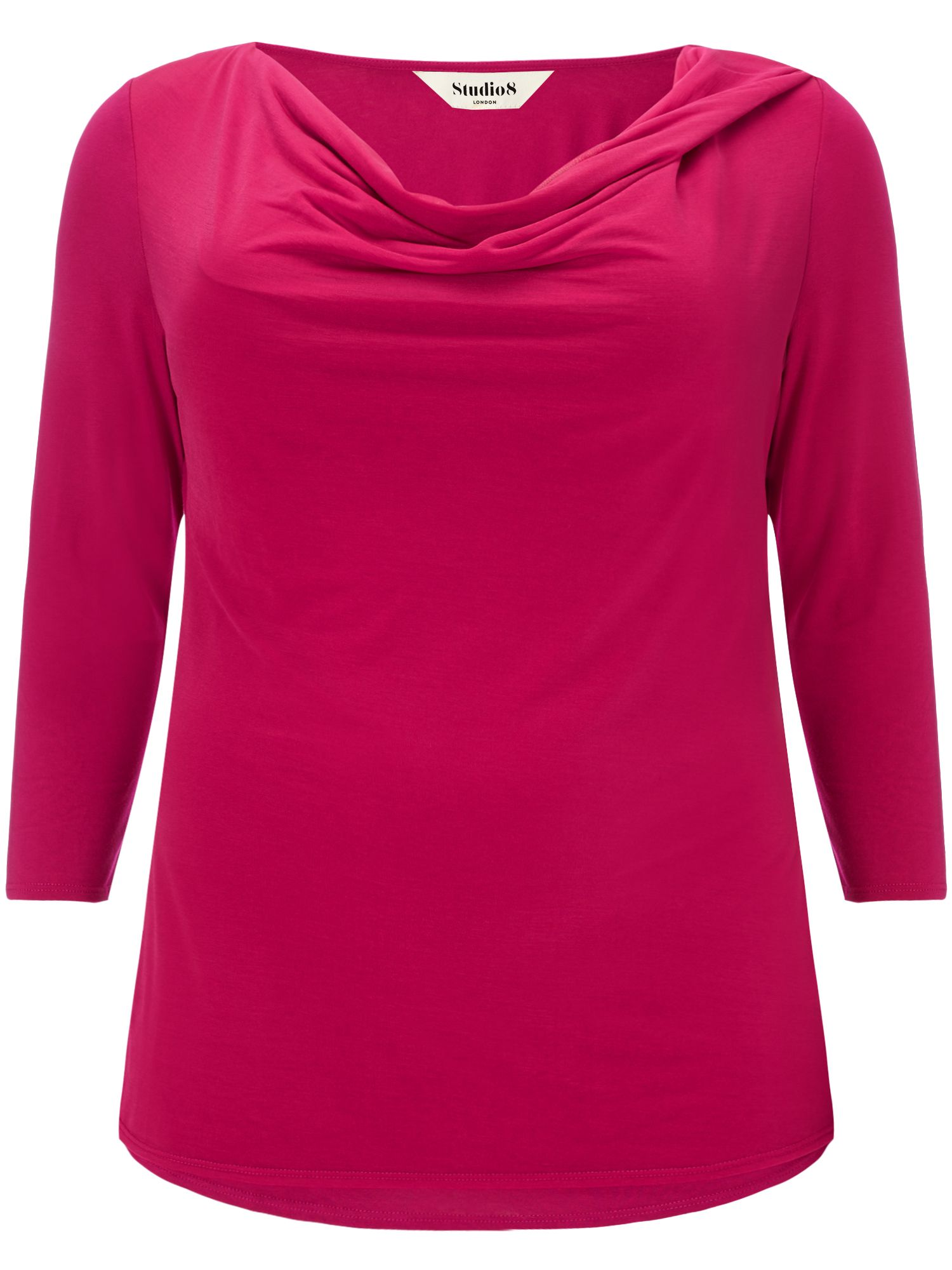 Studio 8 Plus Size Verity cowl neck top, Red