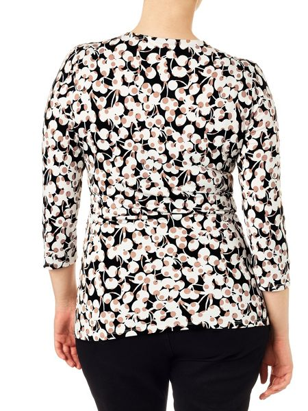 Studio 8 Plus Size Victoria cherry print top