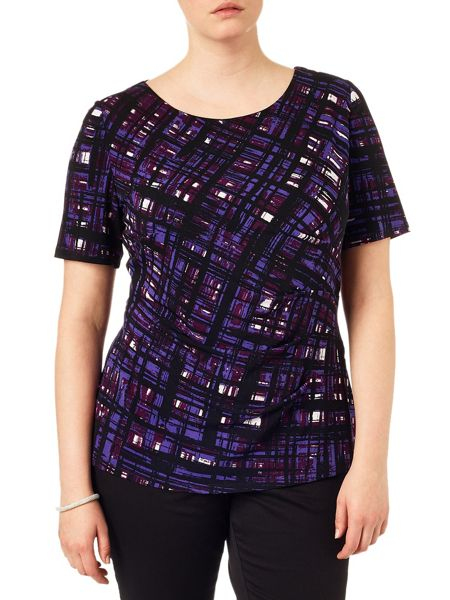 Studio 8 Plus Size Tamsin painted grid top