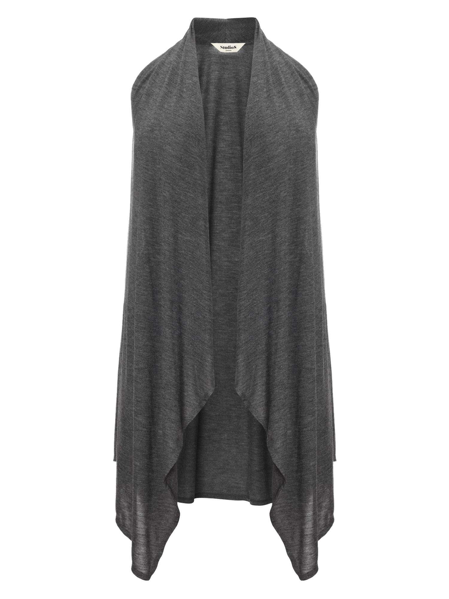 Studio 8 Plus Size Jessica sleeveless waterfall waistcoat, Grey