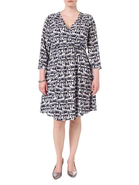 Studio 8 Plus Size Britt brush stroke dress