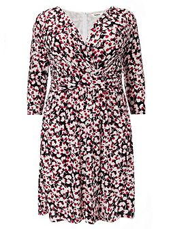 Plus Size Charlotte cherry print dress