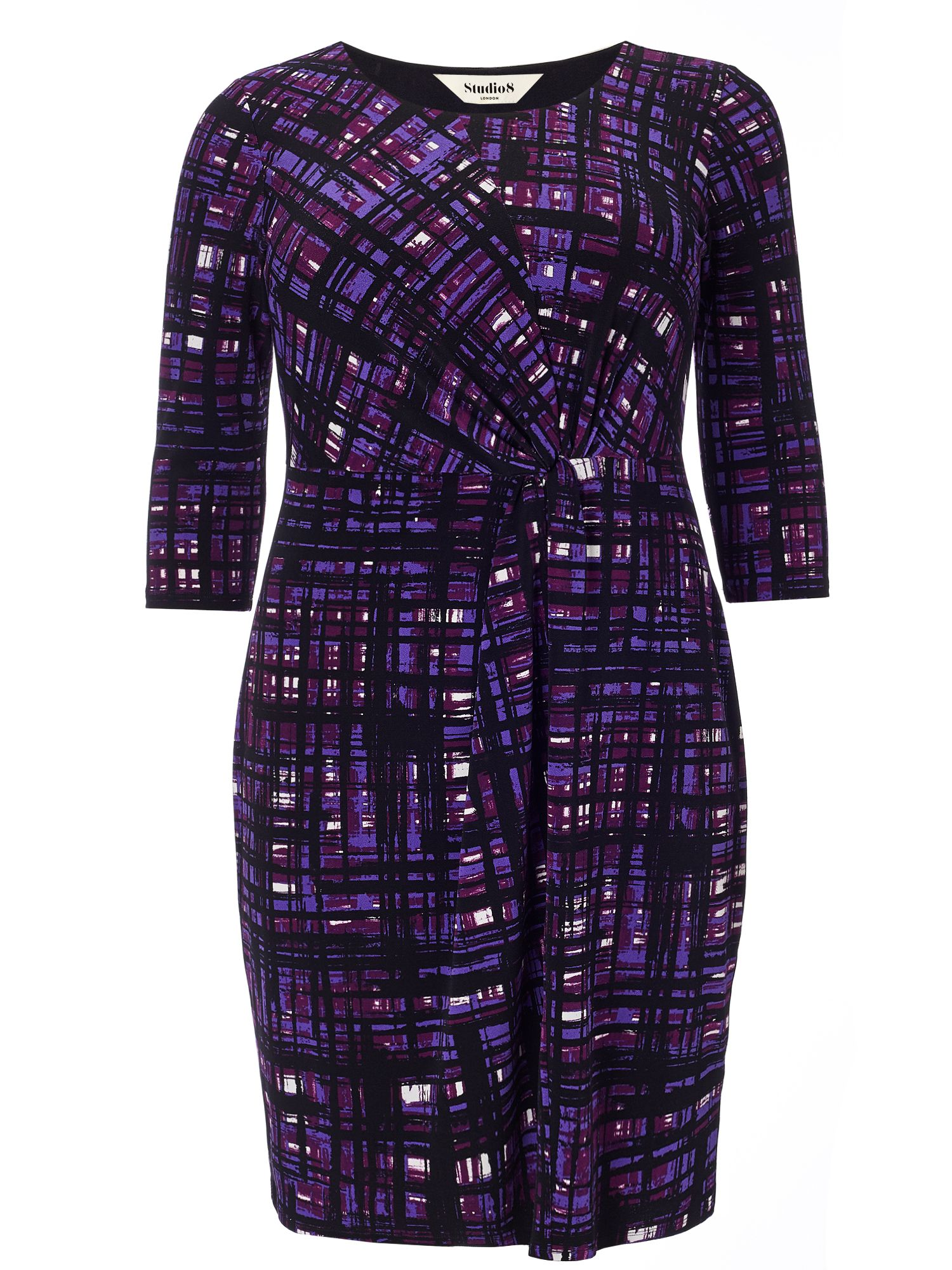 Studio 8 Plus Size Julie grid dress, Purple