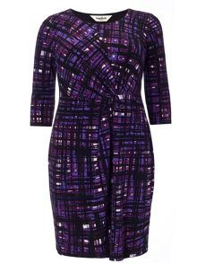 Studio 8 Plus Size Julie grid dress