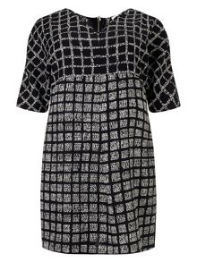 Studio 8 Plus Size Tamara check tunic dress