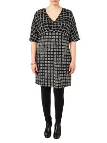 Plus Size Tamara check tunic dress