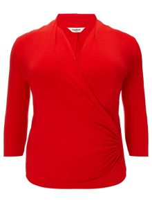 Plus Size Agatha ruched jersey top
