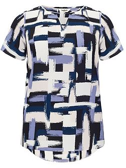 Plus Size Diane brush stroke blouse