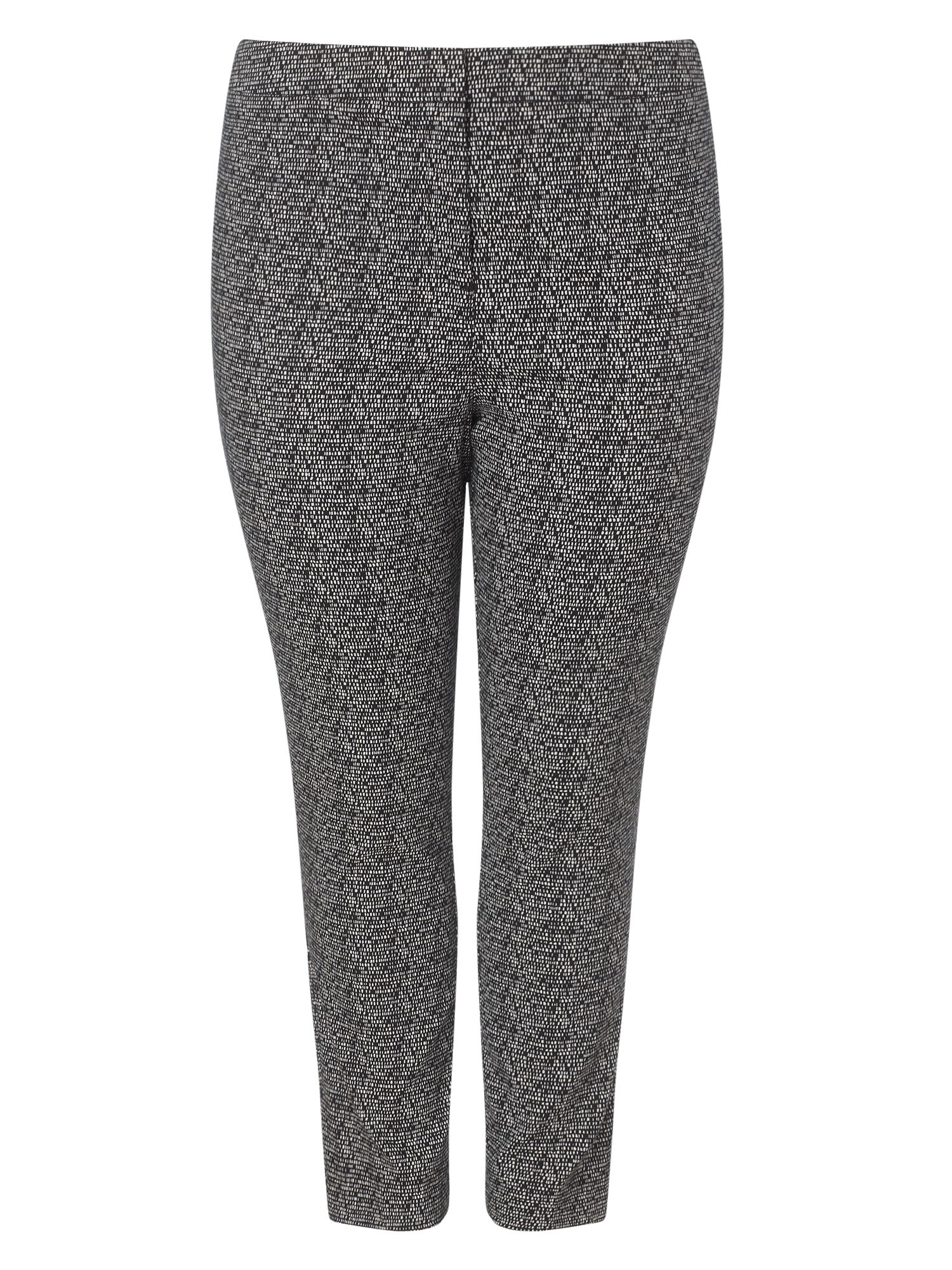 Studio 8 Plus Size Alexa jacquard trousers, Black