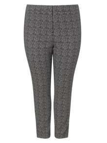 Plus Size Alexa jacquard trousers