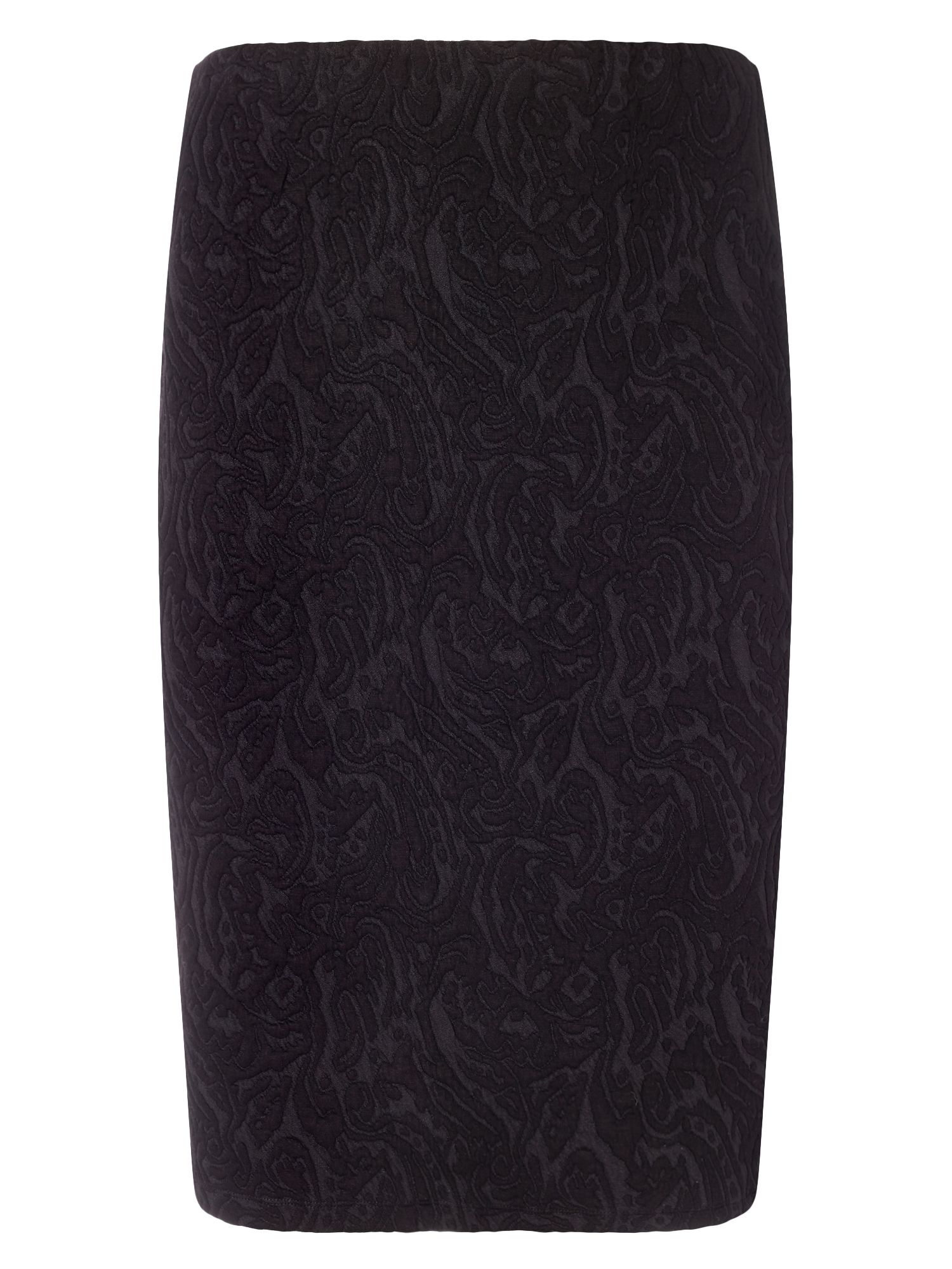 Studio 8 Plus Size Mona textured skirt, Black