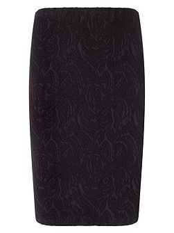 Plus Size Mona textured skirt