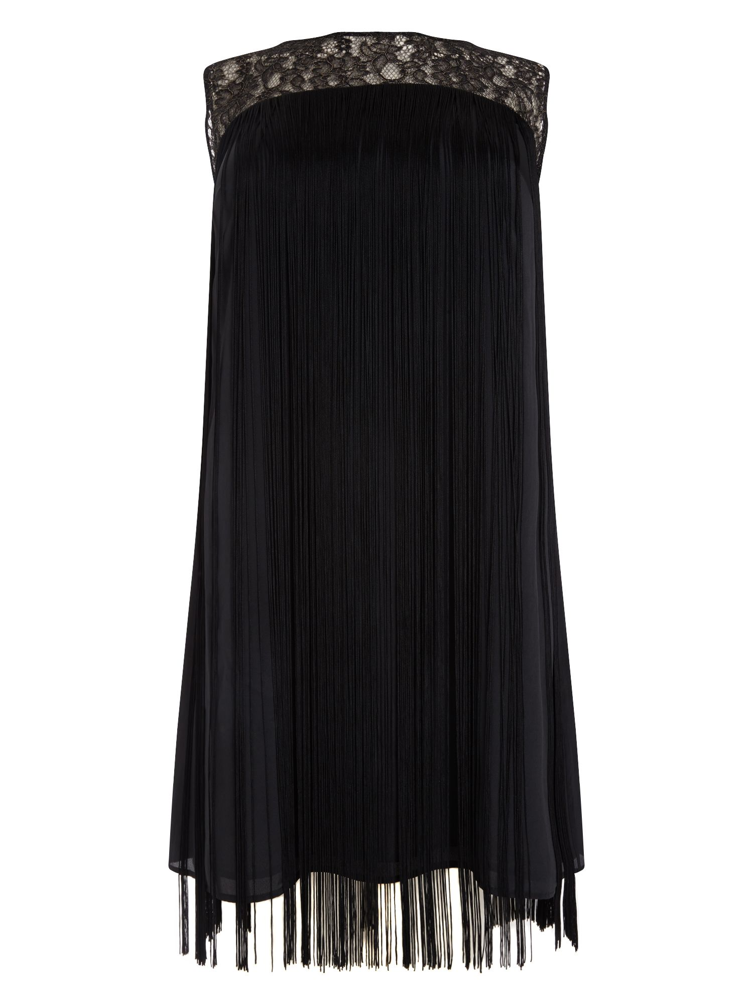 Studio 8 Fiamma fringe dress, Black
