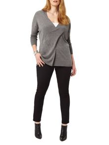 Studio 8 Daphne wrap knit jumper
