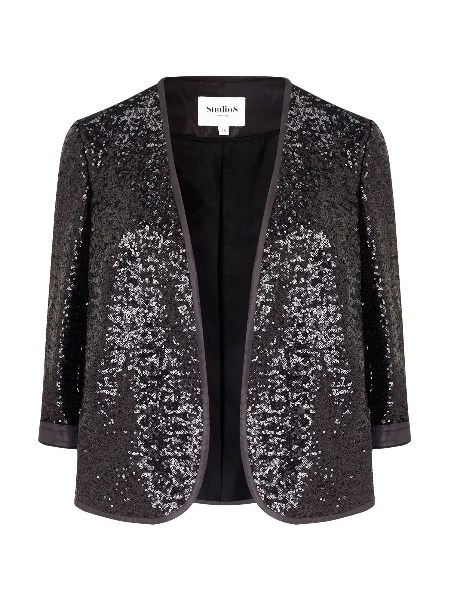 Studio 8 Brooke Sequin Jacket, Black