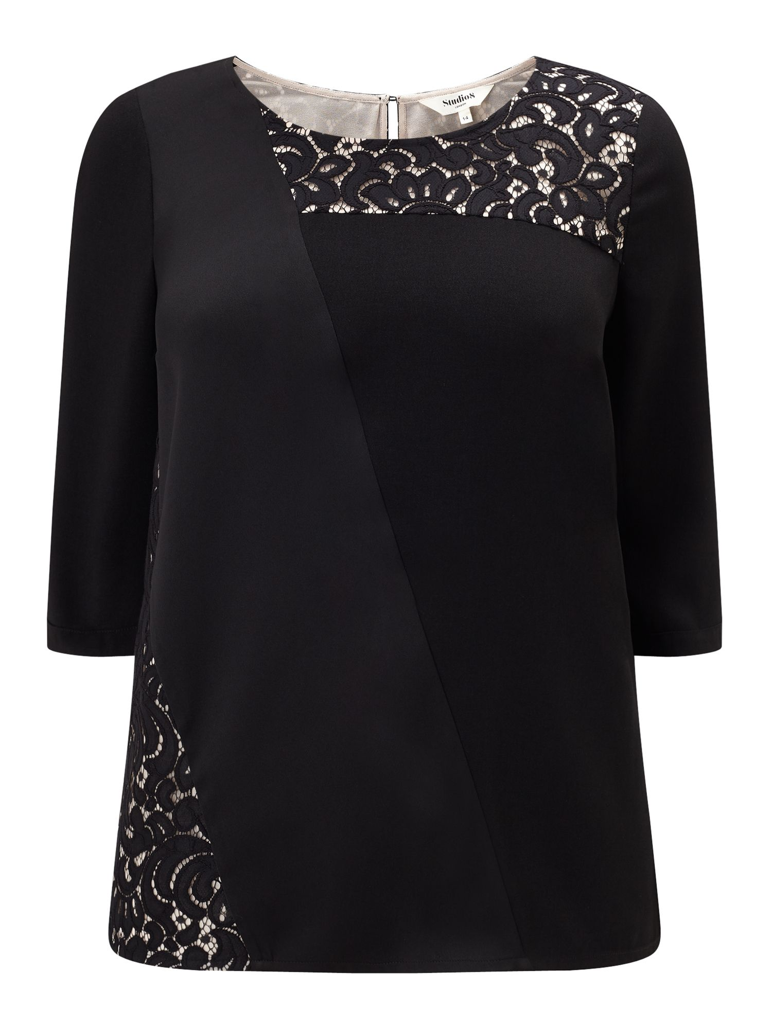 Studio 8 Safire Top, Black