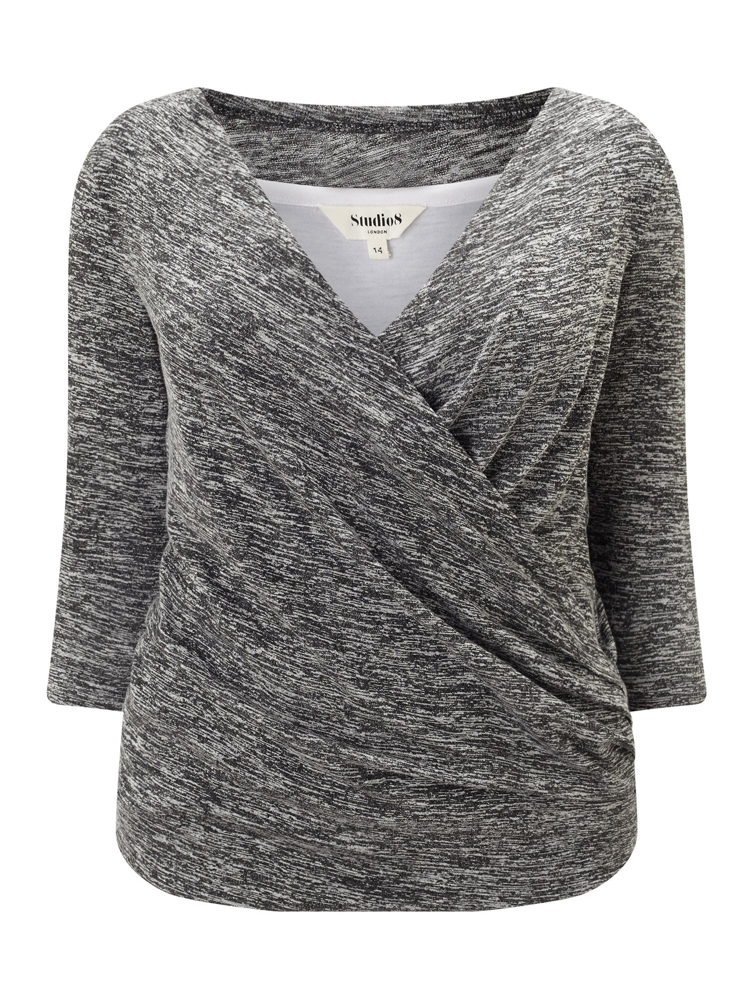 Studio 8 Tara Top, Grey Marl