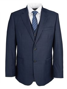 Paul Costelloe Modern Navy Royal Plain Suit Jacket