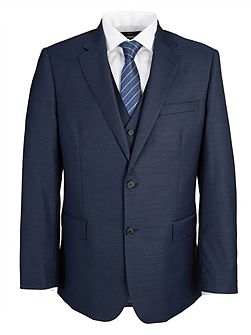 Modern Fit Navy Royal Plain Suit Jacket