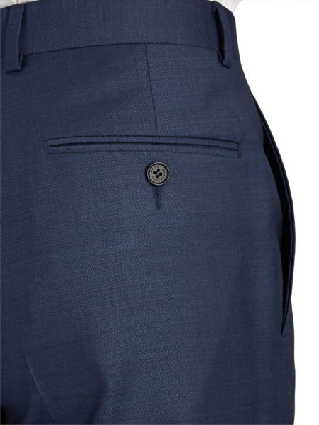 Paul Costelloe Modern Navy Royal Plain Suit Trousers