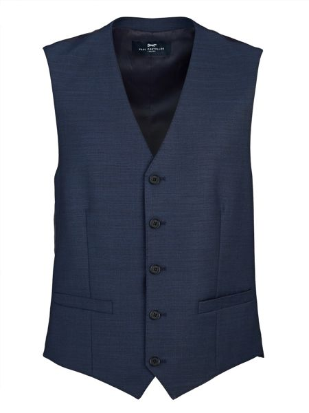 Paul Costelloe Modern Navy Royal Plain Waistcoat