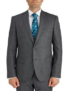Slim Fit Grey Micro Tooth Suit Jacket
