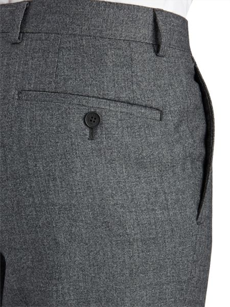 Paul Costelloe Slim Fit Grey Micro Tooth Suit Trousers