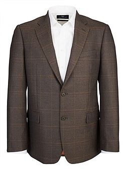 Modern Fit Brown Check Jacket