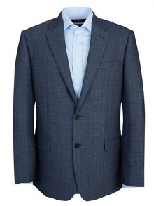 Paul Costelloe Modern Fit Blue Herringbone Jacket