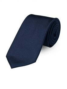 Paul Costelloe Plain Twill French Navy Tie