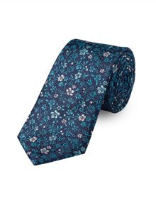 Teal Daisy Floral Tie