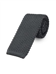 Paul Costelloe Skinny Grey Knitted Tie
