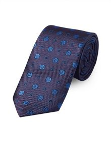 Purple Textured Paisley Motif Tie