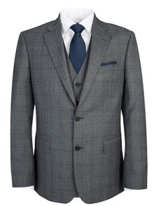 Modern Grey Check Suit