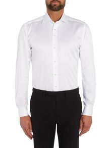 Baumler Tailored white twill single cuff shirt