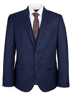 Slim Fit Plain Navy Suit Jacket