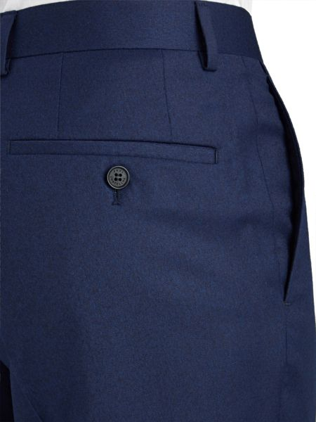 Paul Costelloe Slim Fit Navy Plain Suit Trousers
