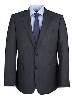 Modern Fit Grey Birdseye Suit Jacket